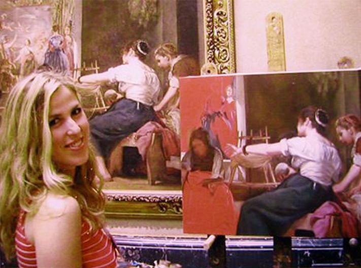 Ana Gulias copiando Las Hilanderas