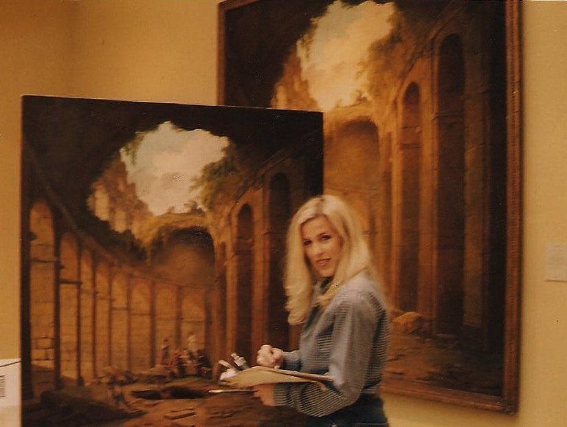 En mis inicios,1997,una de mis primeras copias en el museo.El coliseo de Roma de Robert Hugart