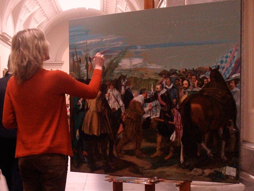Copiando Las Lanzas de Velázquez