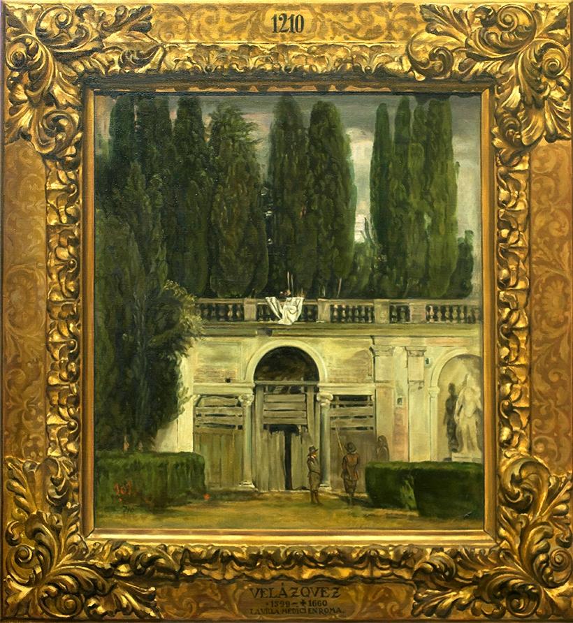 Vista del jard n de la villa medici en roma ana gulias for Jardin de la villa