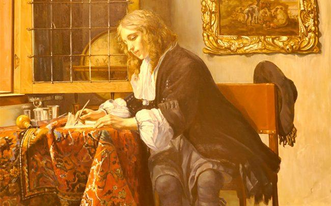 Copy Man writing a letter Gabriel Metsu