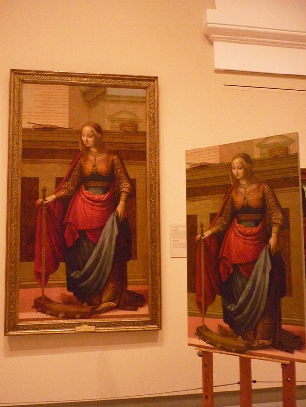 Copia de Santa Catalina en el museo del Prado