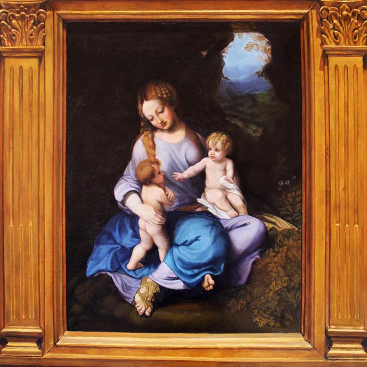 La Virgen, Jesús y San Juan de Correggio