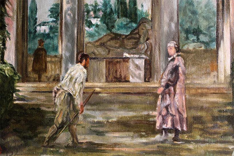 Vista del jardín de la Villa Medici en Roma 2